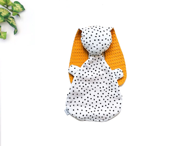 Knijn tutknuffel geel